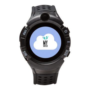 My watch negro - Reloj inteligente con GPS para niños y niñas