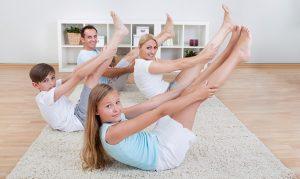 yoga en casa con ninos